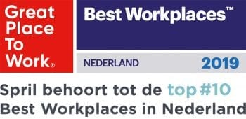 Spril behoort tot de Top Best Workplaces 2019