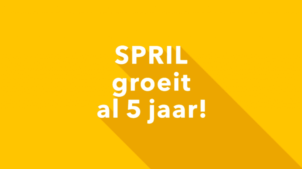Image for Spril groeit al 5 jaar!